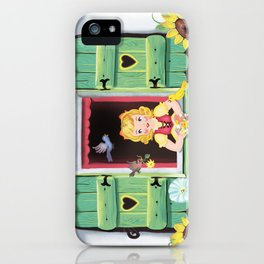 Even The Birds Bring Her Pretty Flowers iPhone Case