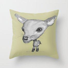 NORDIC ANIMAL  - DEDE THE DEER  / ORIGINAL DANISH DESIGN bykazandholly  Throw Pillow