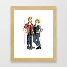 Corrine commish V2 Framed Art Print