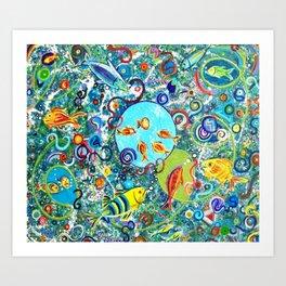 Fish Party Art Print