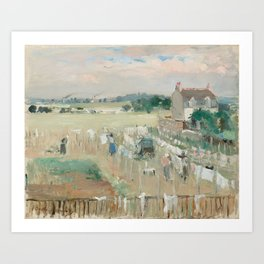 Hanging the Laundry out to Dry by Berthe Morisot Art Print