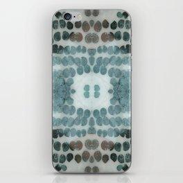 Sea Shell Disco Turquoise iPhone Skin