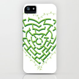 Lost in the Love Maze iPhone Case