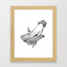 Reading Outside Framed Art Print