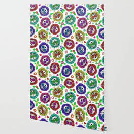 Sugar Skulls, Day Of The Dead, Skull Pattern Wallpaper
