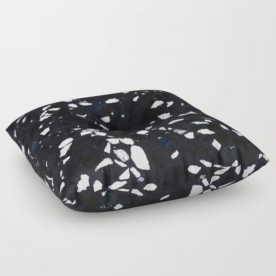 Black Terrazzo Floor Pillow