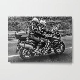 Motorcycle Riders at Highway Metal Print