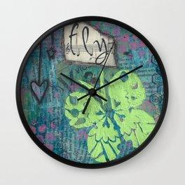Fly Butterfly Wall Clock