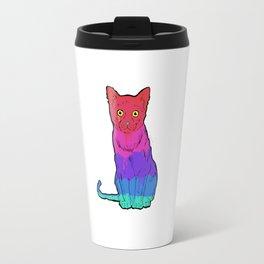 Graffiti Cat Travel Mug