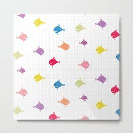 Rainbow fishies Metal Print