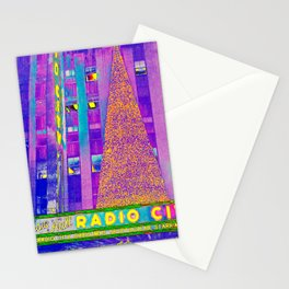 Radio City Music Hall with Holiday Tree, New York City, New York Stationery Cards