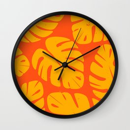 Monstera Leaf Print 1 Wall Clock