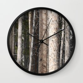 Lodgepoles Wall Clock