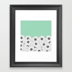 Daisy Boarder Mint Framed Art Print