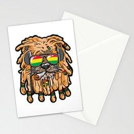 RASTA LION Joint Smoking Weed 420 Ganja Pot Hash Stationery Cards