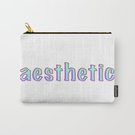 Aesthetic text vintage letters, grunge Carry-All Pouch