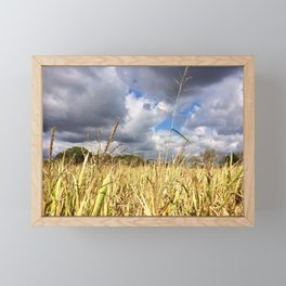 Clouds Rolling Over the Cornfield by Smokies Art Framed Mini Art Print