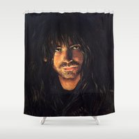 kili Shower Curtains featuring Kili heir of Durin by LucioL