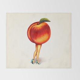 Peach Girl Throw Blanket