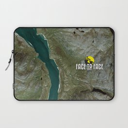 Face To Face - Ape & Man Laptop Sleeve