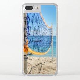 Beach Volley Mauritius Clear iPhone Case
