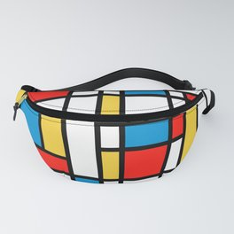 Tribute to Mondrian No2 Fanny Pack