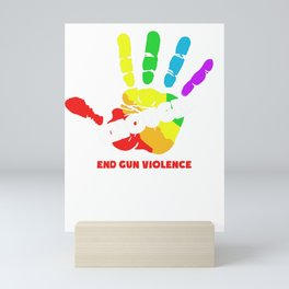 End Gun Violence Enough Gun Control Now Mini Art Print