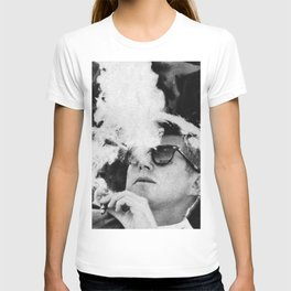 JFK Cigar and Sunglasses Cool President Photo T-shirt