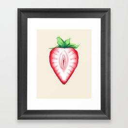 Juicy Strawberry Framed Art Print