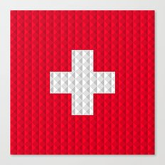 Swiss flag by Qixel Canvas Print