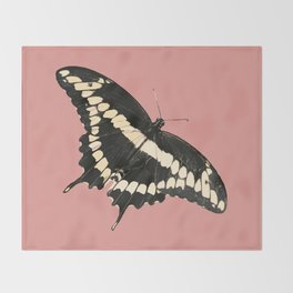 Butterfly Illustrated Print Throw Blanket