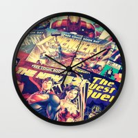 comics Wall Clocks featuring Comics by Miss-Lys