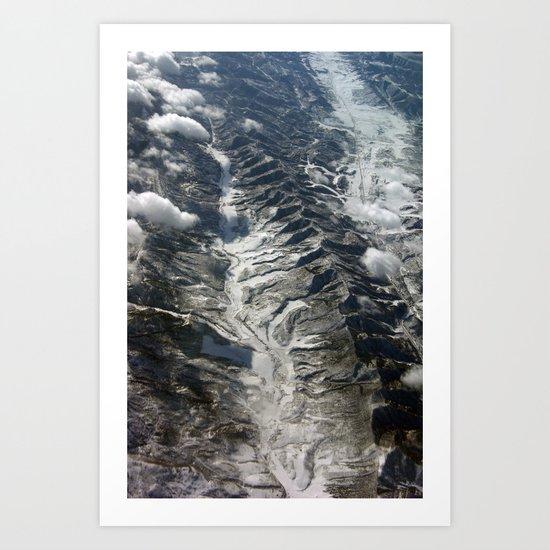 Dip Into The Rocks Art Print