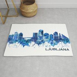 Ljubljana Skyline Blue Rug