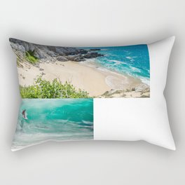 The world is a book, and those who do not travel read only one page. Rectangular Pillow