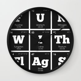 Periodic Elements: Fun with Flags Wall Clock
