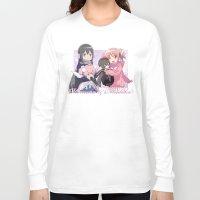 madoka magica Long Sleeve T-shirts featuring Madoka Kaname and Akemi Homura by Neo Crystal Tokyo