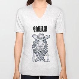 Sheila Godinez and the sexy Cowgirls Unisex V-Neck