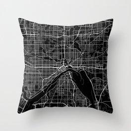 saint paul map minnesota Throw Pillow