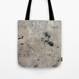 Abstract vintage black gray ivory marble Tote Bag