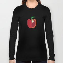 Vegetable: Bell Pepper Long Sleeve T-shirt