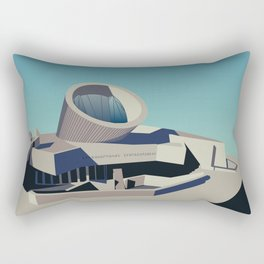 Soviet Modernism: Youth Metro Station in Yerevan, Armenia Rectangular Pillow