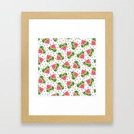 Watermelon Ice cream Framed Art Print