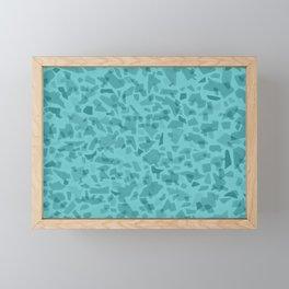 Turquoise Terrazzo Tile Framed Mini Art Print