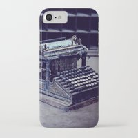 typewriter iPhone & iPod Cases featuring Typewriter by Kerri Ann Crau