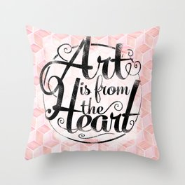 Art Is From The Heart. Throw Pillow
