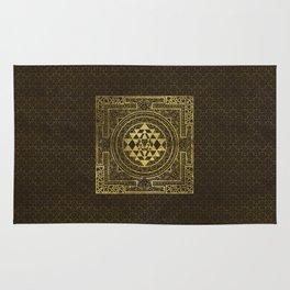 Gold Sri Yantra  / Sri Chakra Rug