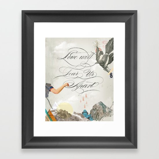 L.W.T.U.A (Love will tear us apart) Framed Art Print