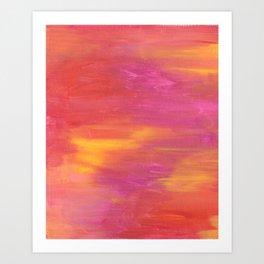 Warm Abstract Art Print