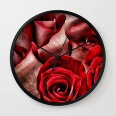 Velvet Roses Wall Clock